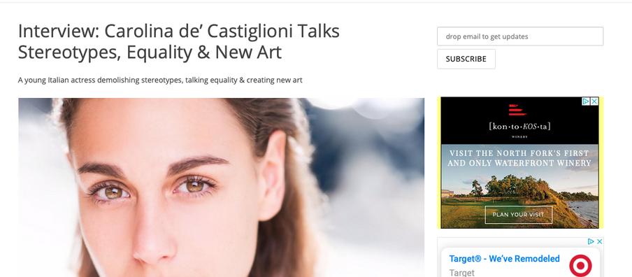 IndieActivity Interviews Carolina de' Castiglioni