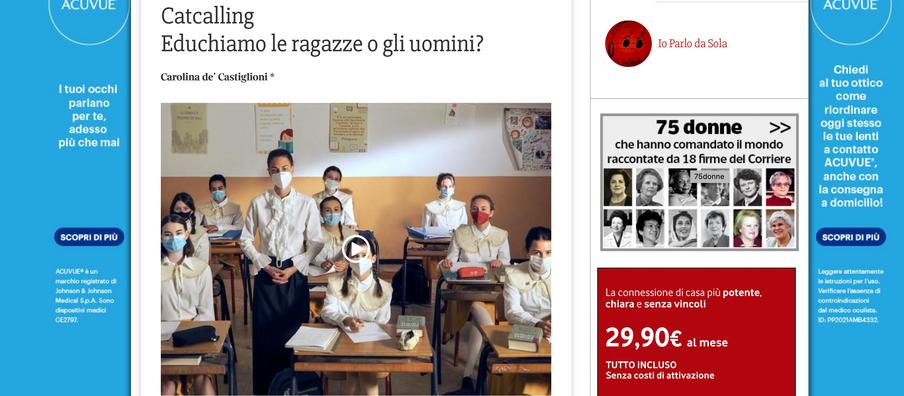 Carolina de' Castiglioni on Corriere della Sera