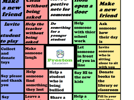Kindness Bingo Time!