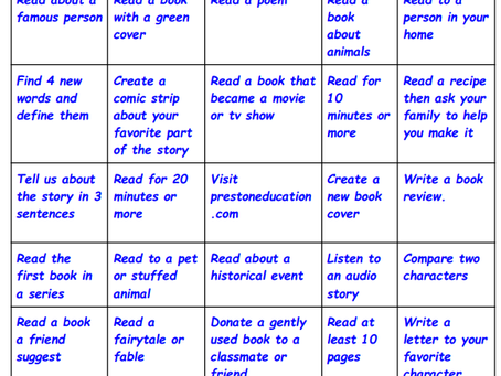 Book Bingo Time