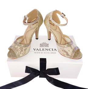Rhinestones Salsa shoes