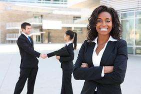 Het Bedrijfs Vrouw Glimlachen