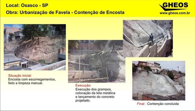 Serviços de Urbanização em favelas