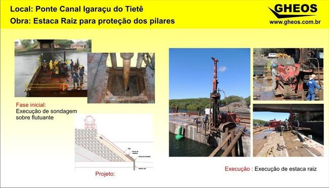 Serviço de Estaca para proteção dos pilares