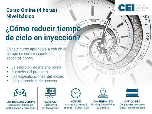 ¿Cómo reducir tiempo de ciclo en inyección?