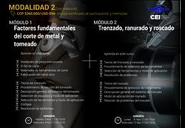 Factores fundamentales del corte de metal y torneado (Módulo 1) y Tronzado, ranurado y roscado (Módulo 2)