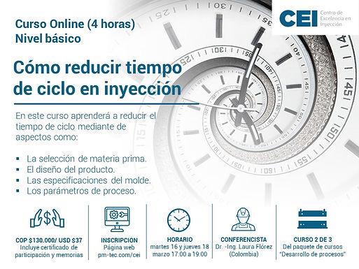 Cómo reducir tiempo de ciclo en inyección.