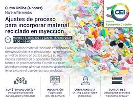 Ajustes de proceso  para incorporar material reciclado en inyección