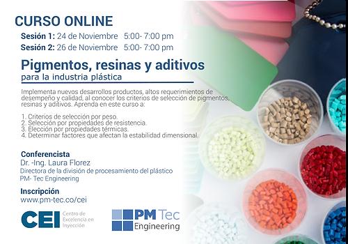 Pigmentos, resinas y aditivos para la industria plástica