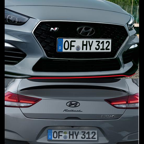 Hyundai Embleme schwarz - Set Front & Heck, i30N Fastback