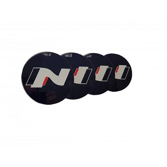 Nabenkappen-Set Schwarz mit Hyundai N-Logo