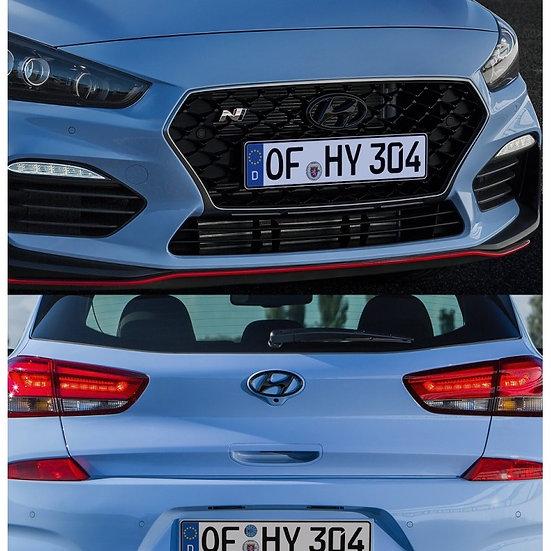 Hyundai Embleme schwarz - Set Front & Heck, i30N Hatchback