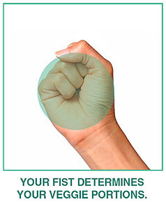 your fist determines your veggie portions