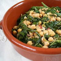 Spinach & Garbanzos