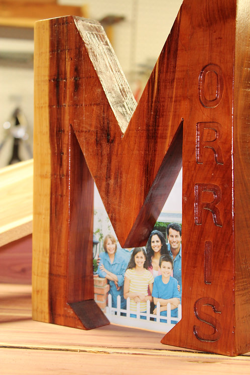 Letter Shaped Picture Frame
