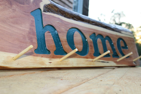 Home Sign with Pegs