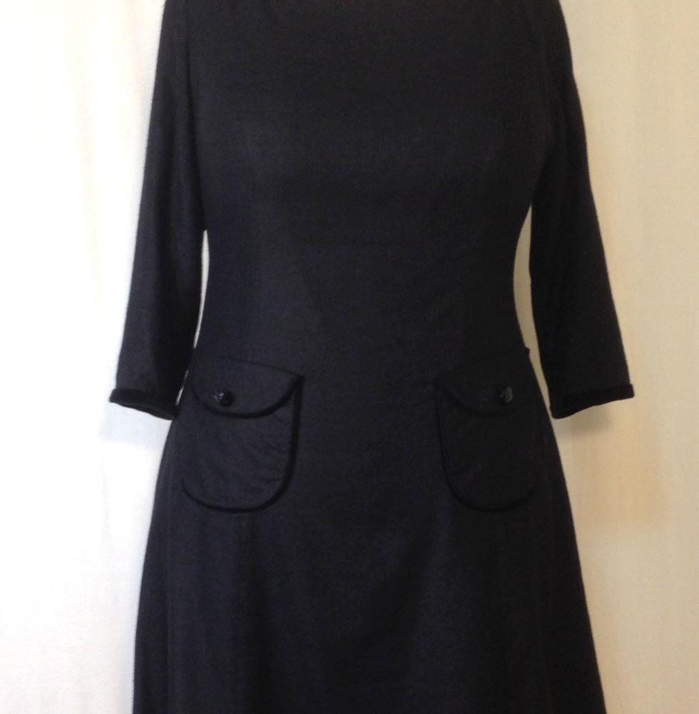 60'S BOAT NECK DRESS