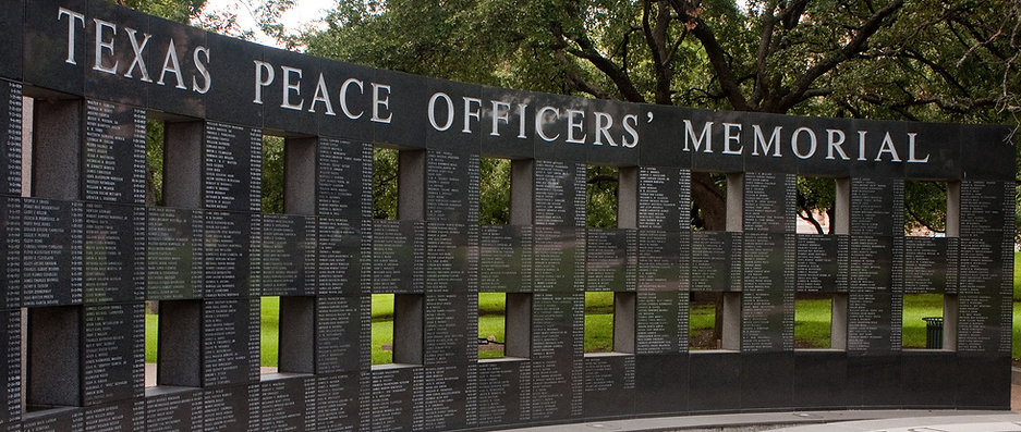 Texas Peace Officer Memorial Wall