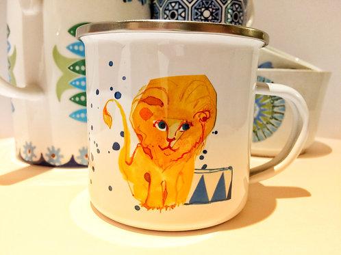Circus Lion enamel mug