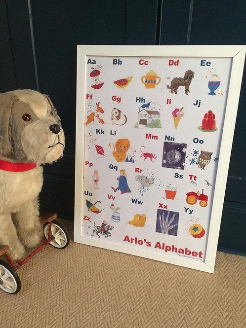 Arlo's Alphabet A2 poster