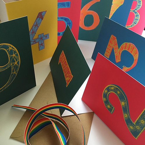Birthday number cards