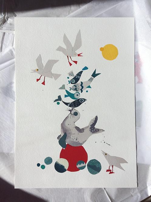 Seal Surprise print