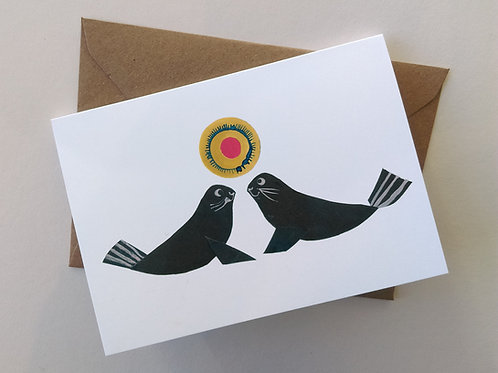 Seal Friends card