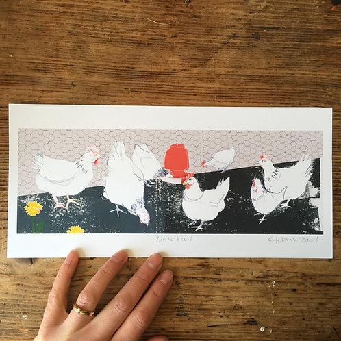 Little Hens print