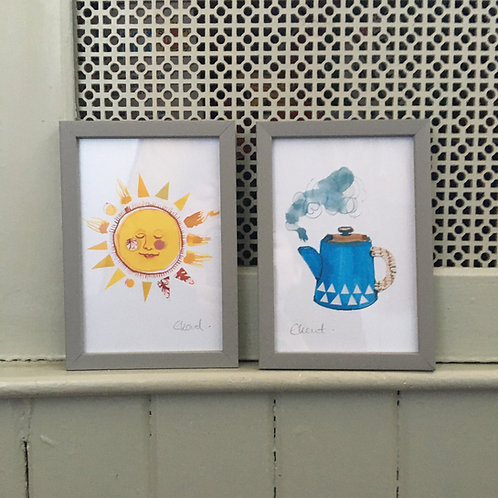 Reasons To Be Cheerful framed set