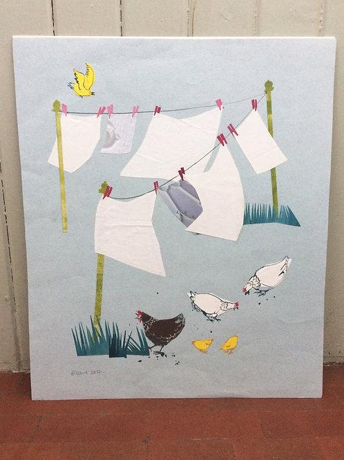 'Washing Day' original artwork
