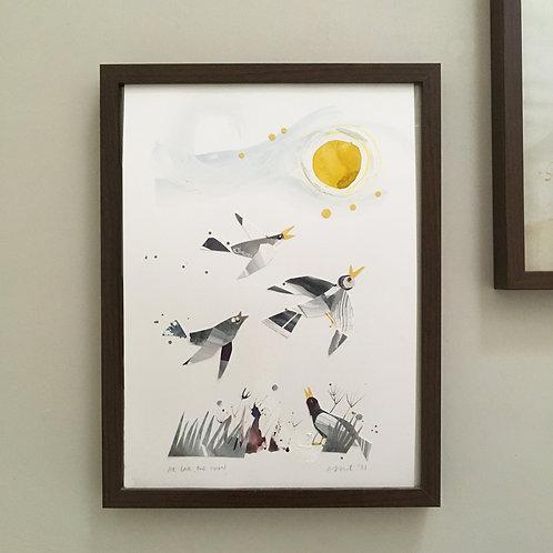 'At Last, the Sun' original artwork