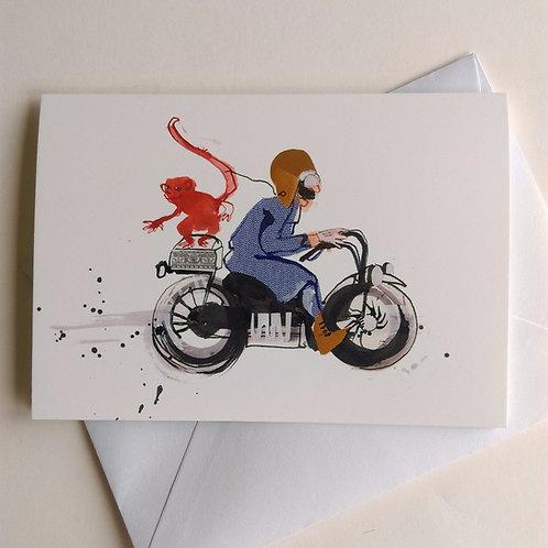 Motorbike Monkey card