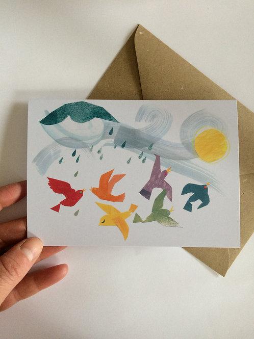 Rainbow Flock card