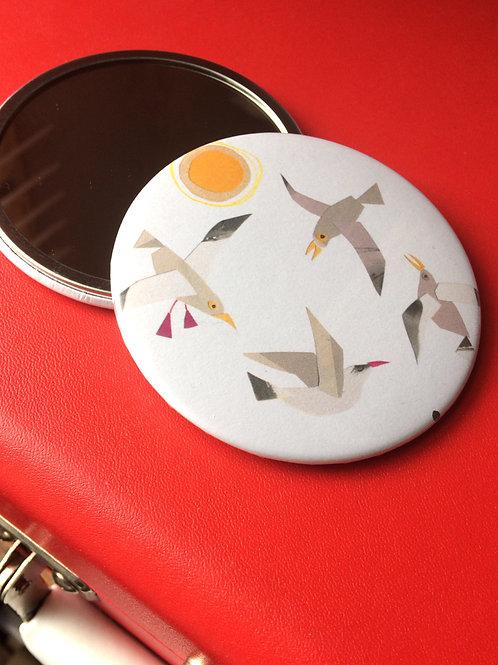 Seagulls pocket mirror