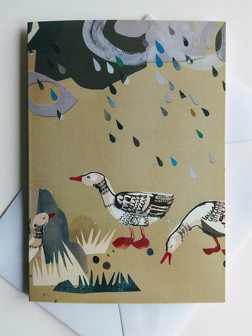 Pink Footed Geese card