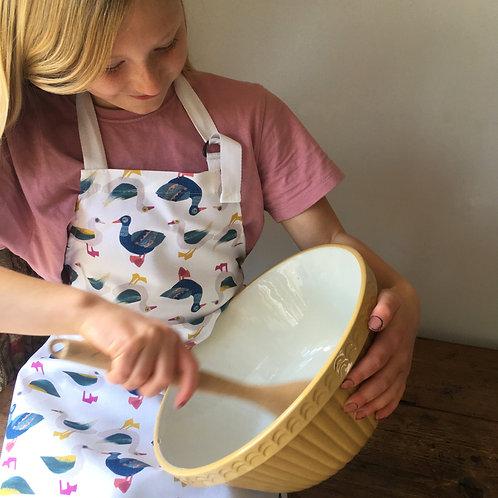 Geese children's apron