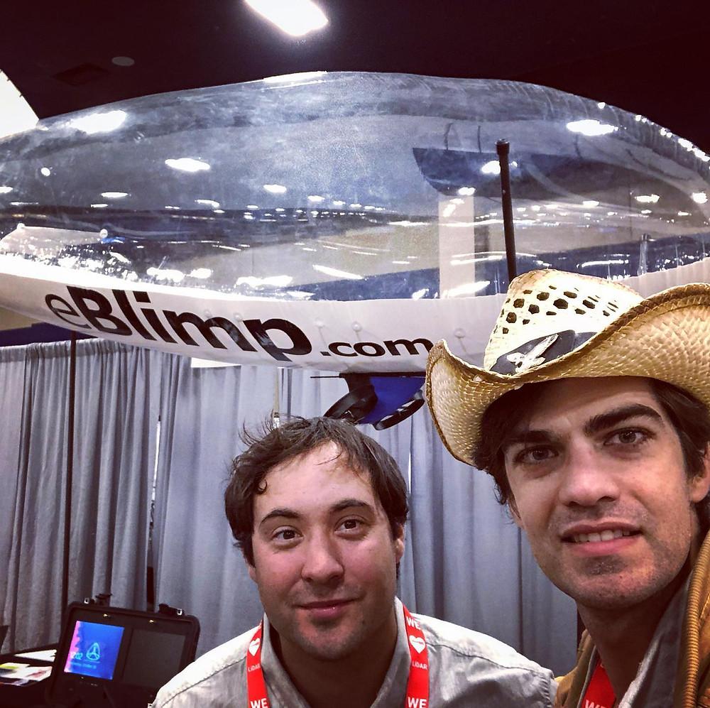 Unmanned Blimp Model, Commercial UAV Expo, CUAV, Las Vegas, Drone Expo