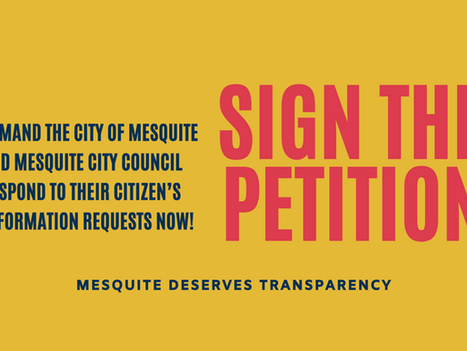 Corruption and bigotry have no place in Mesquite