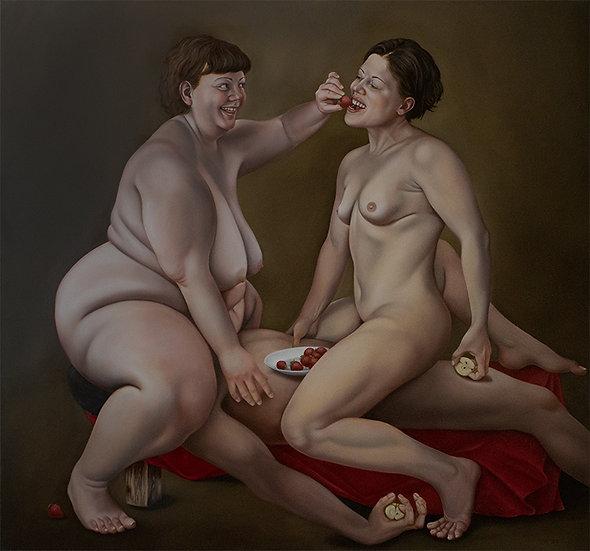 "Original Ölgemälde ""Lilith und Eva"""