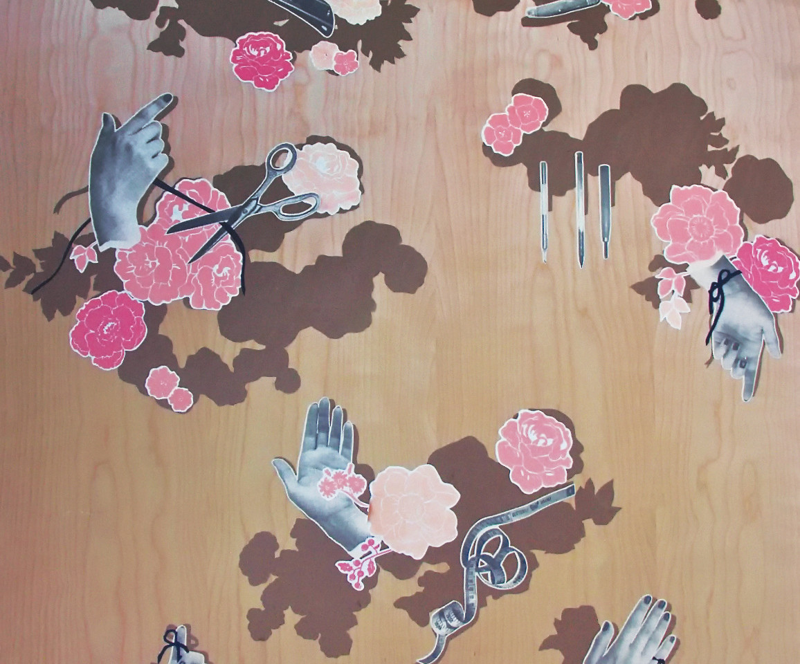 """Hand printed """"wall-paper"""""""