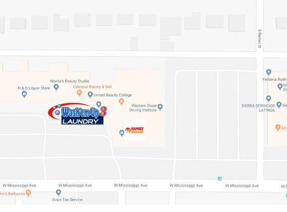 Wash'em Up #3 Google Map
