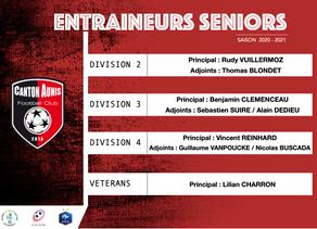 Entraineurs Seniors - Saison 2020/2021