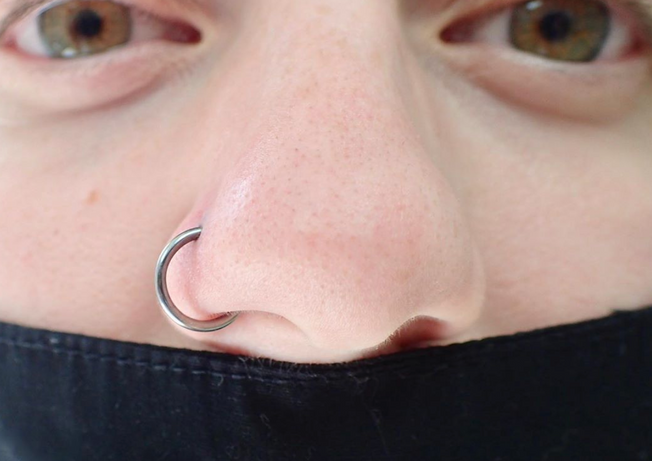 Nose Piercing by Isobel