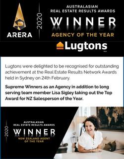 Lisa Award Success