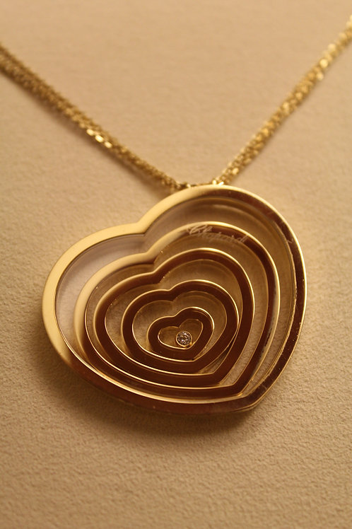 Chopard 18ct Gold Happy Spirit Necklace 5 Hearts