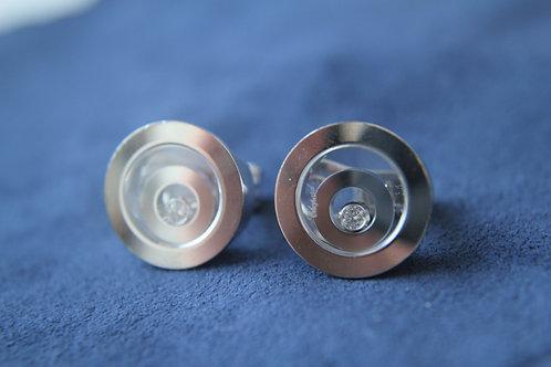 Chopard 18ct Gold Happy Spirit Earrings 2 Circles