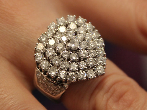 18ct White Gold Dress Ring Heart Shape 2.50ct