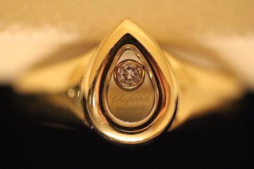 Chopard Happy Diamonds 18ct YG Teardrop Ring