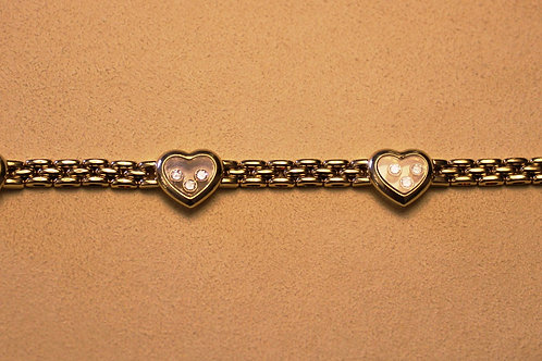 Chopard 4 Heart Bracelet, 12 Diamonds, 18ct YG