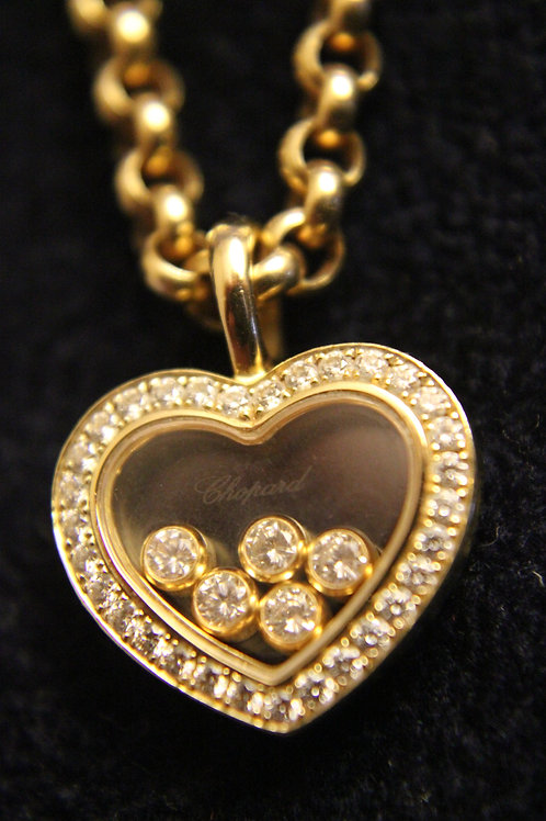 Chopard 18ct Yellow Gold Happy Diamonds Necklace